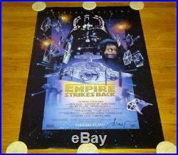 Star Wars Empire Strikes Back Spec Ed'97 One Sheet Movie Poster SIGNED Struzan