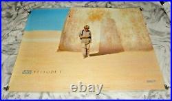 Star Wars Episode 1 The Phantom Menace Original UK Quad Movie Cinema Poster 1999
