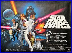 Star Wars Episode IV A New Hope 1977 30x40 Orig Movie Poster FFF-29307