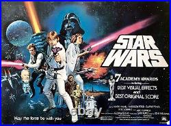 Star Wars Episode IV A New Hope Original Awards Version 1977 Quad Poster Rolled