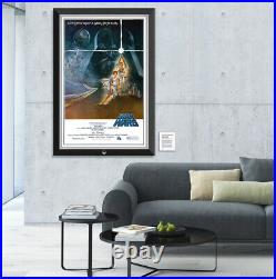 Star Wars Episode IV A New Hope Original Movie Poster Framed Museum Canvas