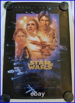 Star Wars Episode IV Special Edition Drew Struzan 40 X 27 Movie Poster 1997 NM