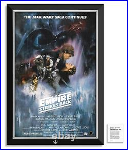 Star Wars Episode V The Empire Strikes Back Movie Poster Framed Museum Canvas