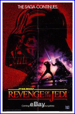 Star Wars Episode VI Revenge of the Jedi 1983 27x41 Orig Movie Poster FFF-1