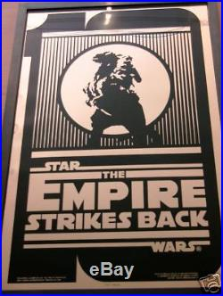 Star Wars Esb 10 Year Ann Luke Taun Taun Framed Mylar Movie Poster Gem Mint