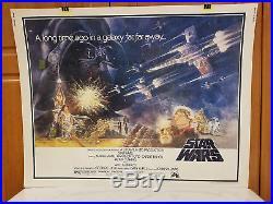 Star Wars Fisher / Ford / Hamill Original Half Sheet Movie Poster