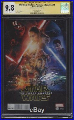 Star Wars Force Awakens #1 movie poster variant CGC 9.8 SS Signed by John Boyega