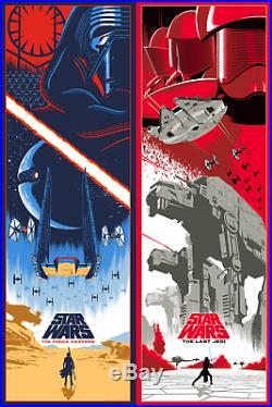Star Wars Force Awakens & Last Jedi Poster Art Set by Eric Tan #/250 NT Mondo