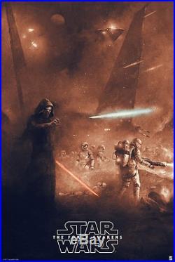 Star Wars Force Awakens Reg Alt Movie Poster Karl Fitzgerald No. /175 NT Mondo