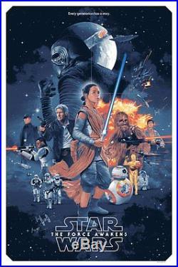 Star Wars Force Awakens Regular Alternative Movie Poster Mondo Artist Gabz /1525