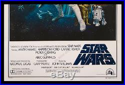 Star Wars GENUINE STYLE C MOVIE POSTER TRI-FOLD ARCHIVAL MUSEUM LINEN-MOUNTED