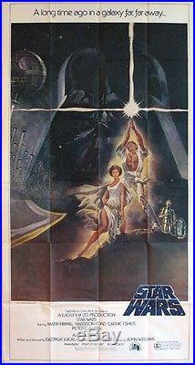 Star Wars Harrison Ford George Lucas 1977 3-sheet Billboard Movie Poster