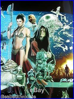 Star Wars Jason Palmer Celebration V 5 art print poster movie Darth Luke Yoda