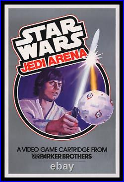 Star Wars Jedi Arena Atari Movie Poster Store Display Museum Linen-mounted