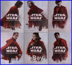 Star Wars Last Jedi Bus Shelter Posters Set Very Rare Original Movie Posters