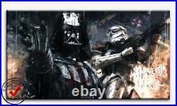 Star Wars Leinwand Bild Bilder Darth Vader Wandbild Kunstdrucke Poster Deko Film