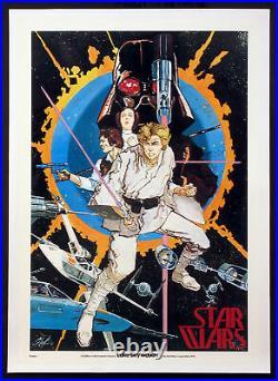 Star Wars Luke Skywalker Howard Chaykin Very First Star Wars Poster 1976 Rolled