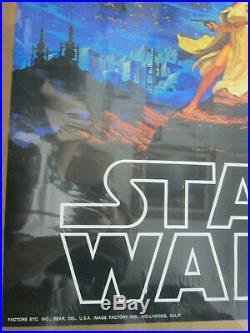 Star Wars Luke Skywalker Princess Leia Movie Vintage Poster Garage 1977 Cng329
