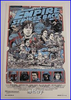 Star Wars Mondo Poster Set By Tyler Stout Rare Limited Edition Screen Prints