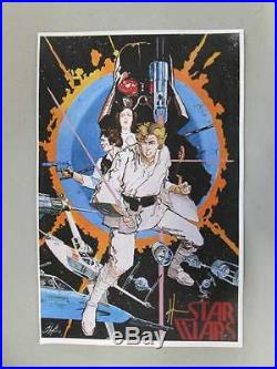 Star Wars Movie Poster 1977 Signed Howard Chaykin Autograph