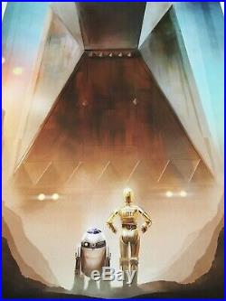 Star Wars Movie Poster Art Print Andy Fairhurst C-3PO R2-D2 A New Hope mondo