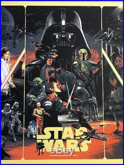 Star Wars Movie Poster Art The Empire Strikes Back Return Of Jedi Gabz Mondo