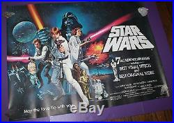 Star Wars Movie Poster British Quad Academy Awards Style Rolled
