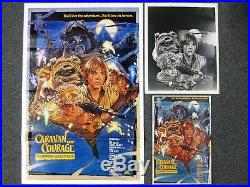 Star Wars Movie Poster Caravan of Courage Production Studio An Ewok Adventure