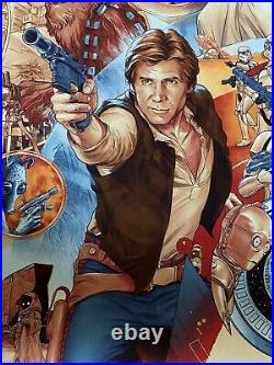 Star Wars Movie Poster Martin Ansin Art Print Luke Skywalker Darth Vader Mondo