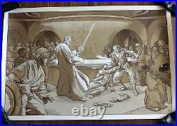 Star Wars Movie Poster Wretched Hive Luke Skywalker Mondo Art Print Martin Ansin