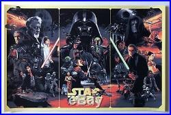 Star Wars Movie Trilogy Poster by Gabz The Empire Strikes Back Bottleneck MINT