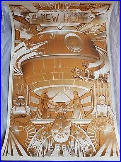 Star Wars New Hope Gold Foil Alt Movie Poster Steve Thomas Ltd No. /350 NT Mondo