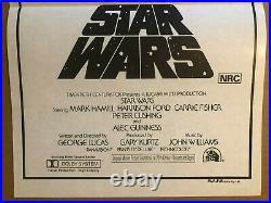 Star Wars Original 1977 Australian Style C Daybill Mint Movie Poster Chantrell