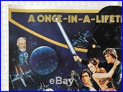 Star Wars Original 1983 Triple Bill Movie Quad Poster Empire Strikes Back ROTJ