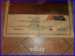 Star Wars Original Movie Kino Poster 1977 One Sheet A 77/21 Krieg der Sterne