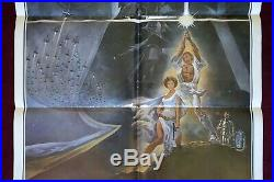 Star Wars Original Movie Poster 1977 Style A 1sh 77/21-0 First Printing