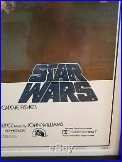 Star Wars Original Movie Poster 1977 Style A 1sh A New Hope Vintage