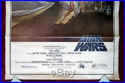 Star Wars Original Movie Poster Style A 1sh 1977 A New Hope Vintage Trifold