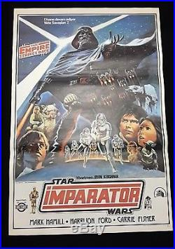 Star Wars Original Movie Poster The Empire Strikes Back Turkish Rare