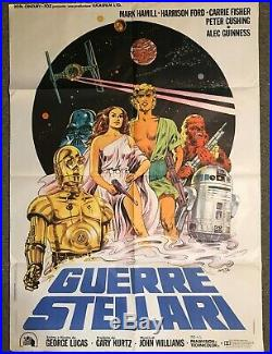 Star Wars Original Oversized Italian Movie Poster