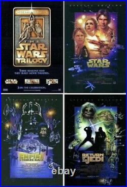 Star Wars Original R-97 Mint Rolled Set Of 4 Movie Posters 1997 Special Edition