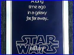 Star Wars Original Teaser One Sheet Poster Style B 1977 on Linen- 27x 40 NM/MINT