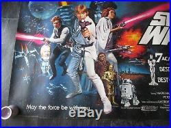 Star Wars Original Uk Quad Movie Poster (1978) Very Rare Rolled Star Wars Poster