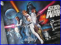 Star Wars Original Uk Quad Movie Poster (1978) Very Rare Rolled Star Wars Poster