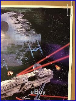 Star Wars Original Vintage Movie Poster Pin-up Return Of The Jedi Galaxy 1983