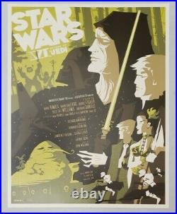 Star Wars Origional trilogy set of 3 Empire Jedi Print Poster Mondo Tom Whalen