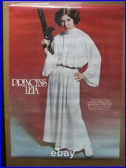 Star Wars Princess Leia Movie Vintage Poster Garage 1977 Cng2149
