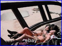 Star Wars Princess Leia Sunbathing on Set Movie Poster Film Canvas Art Print