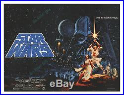 Star Wars RARE 1977 HILDEBRANDT BRITISH QUAD MOVIE POSTER SOLID NearMINT C9