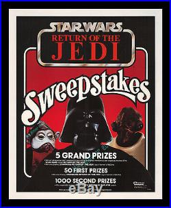 Star Wars RETURN OF THE JEDI KENNER ACTION FIGURE STORE DISPLAY MOVIE POSTER
